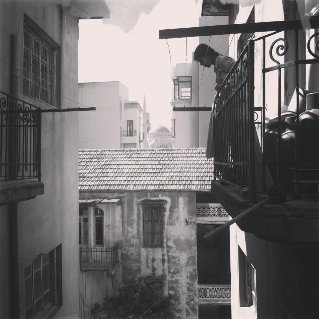 """""""Beirut balcony"""" stock image"""