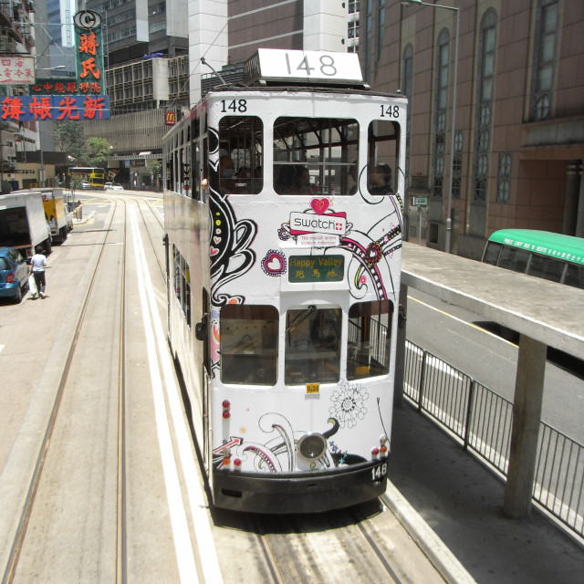 """Tram - Hong Kong"" stock image"