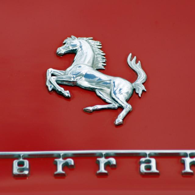 """""""Ferrari Close Up"""" stock image"""
