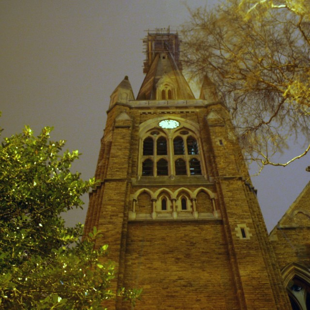 """Night Church"" stock image"