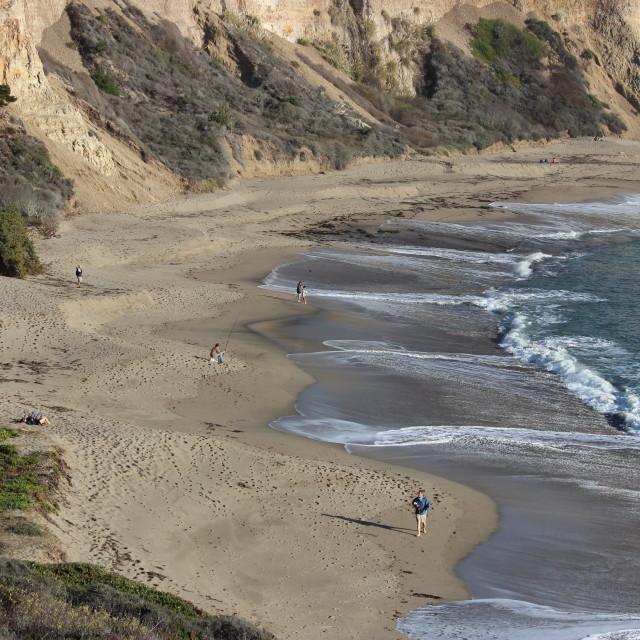 """Stroll on the beach."" stock image"