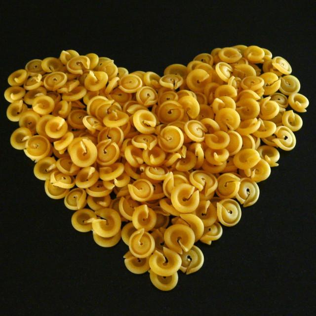 """Pasta Heart"" stock image"