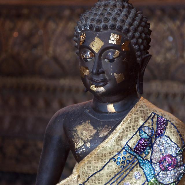 """""""Black Buddha"""" stock image"""