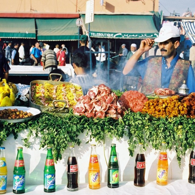 """""""Marrakech Food Stall"""" stock image"""
