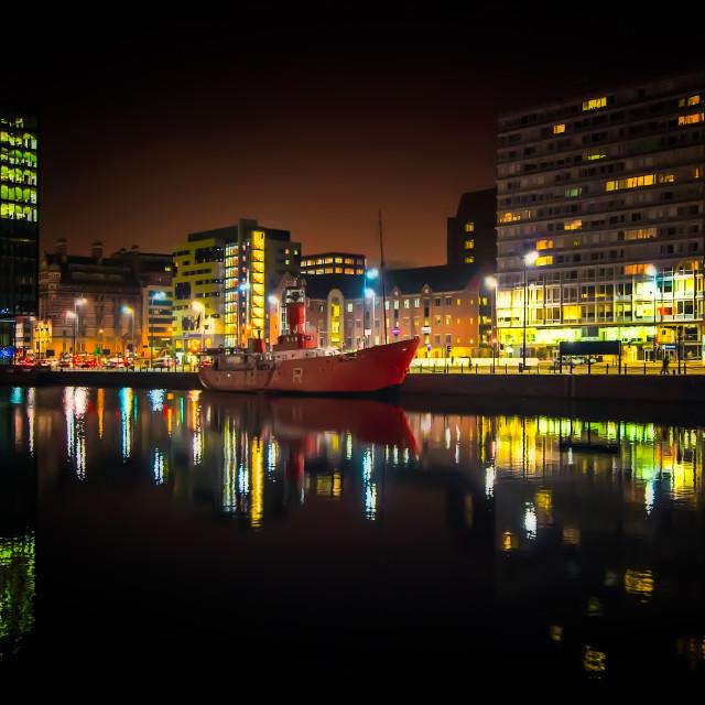 """Liverpool Dock"" stock image"