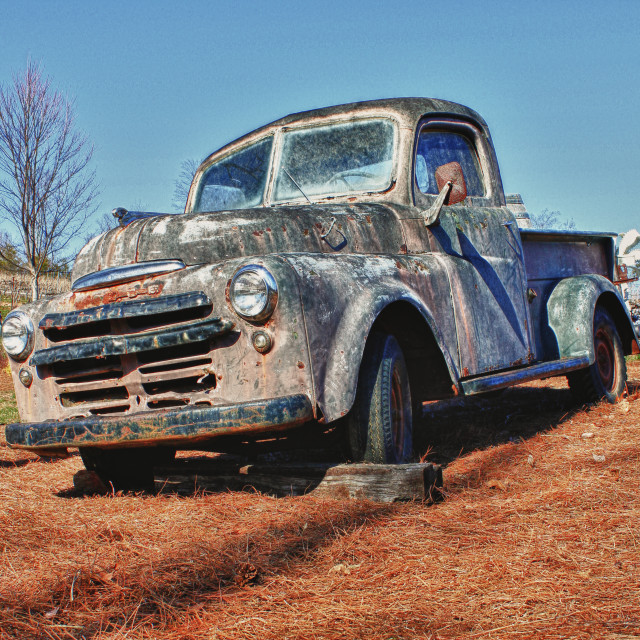 """Old Dodge Pickup"" stock image"