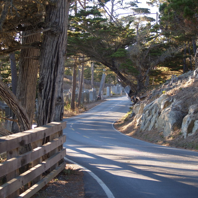 """17 Mile Drive."" stock image"