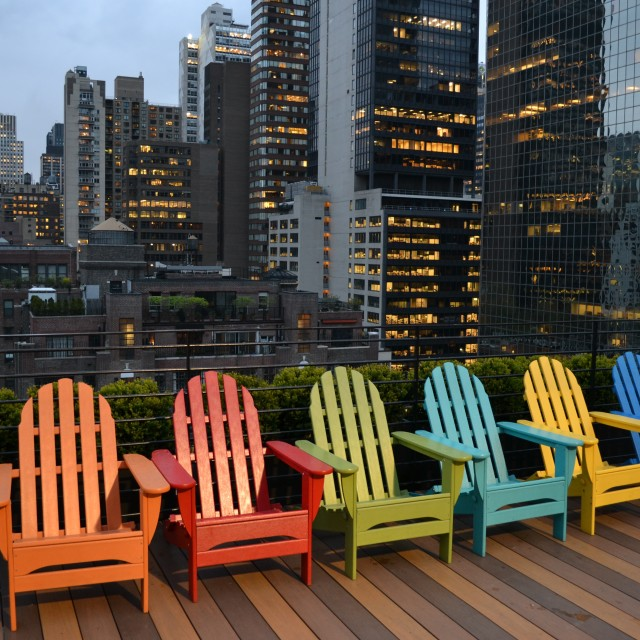 """""""Rooftop seating"""" stock image"""
