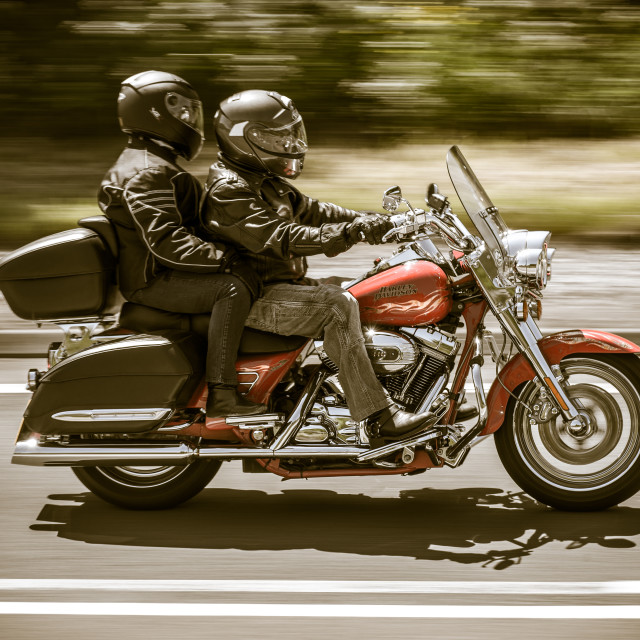 """Harley Davidson..Freedom of the open road"" stock image"