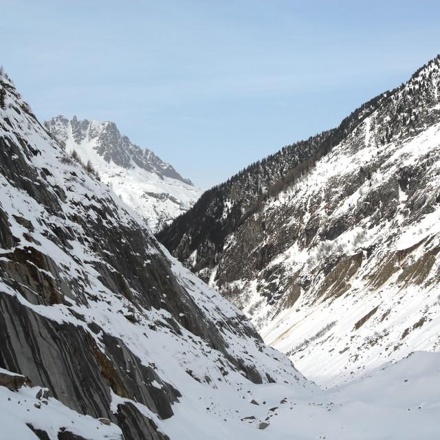 """Mer de Glace Chamonix"" stock image"