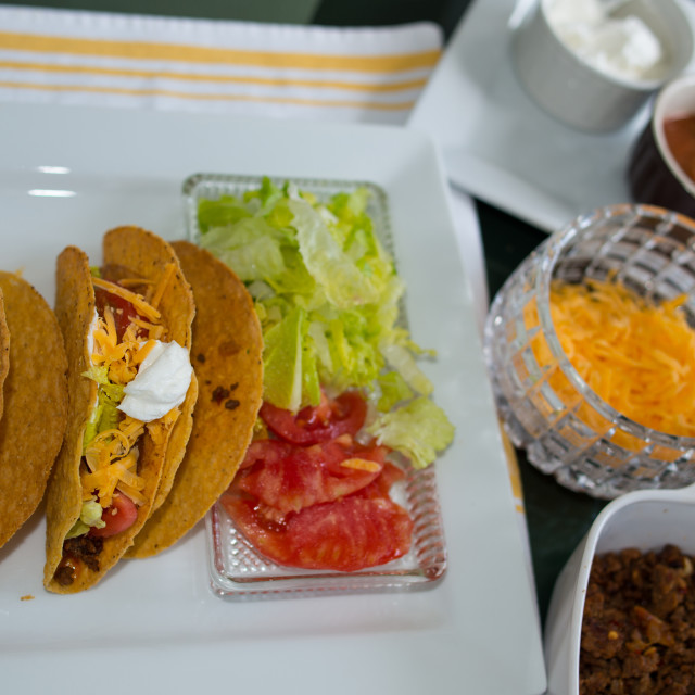 """Homemade Tacos on a Plate"" stock image"
