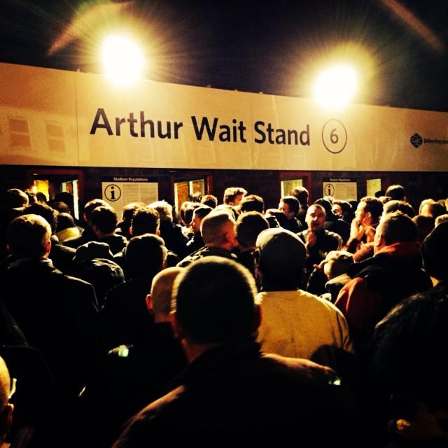 """""""Arthur Wait Stand, Selhurst Park"""" stock image"""