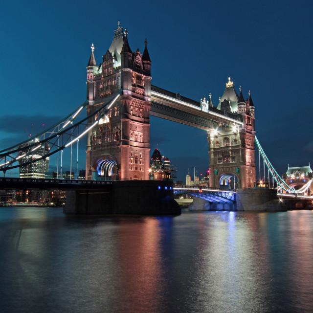 """""""Tower Bridge dusk shot"""" stock image"""
