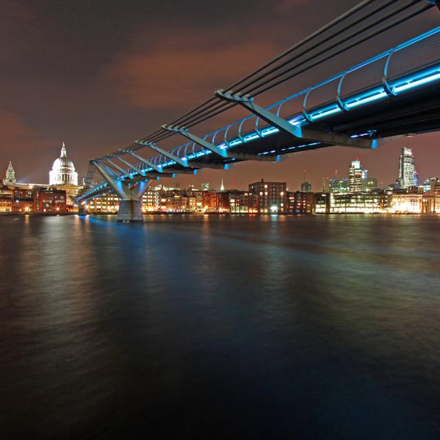 """""""Bridge to St Paul's"""" stock image"""