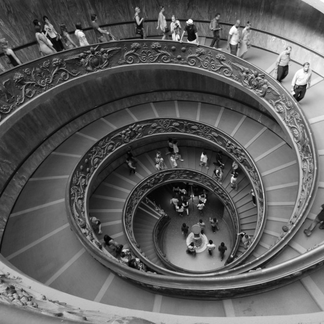 """Leaving Vatican City"" stock image"