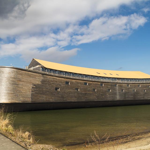 """""""Wooden replica of Noah's Ark"""" stock image"""