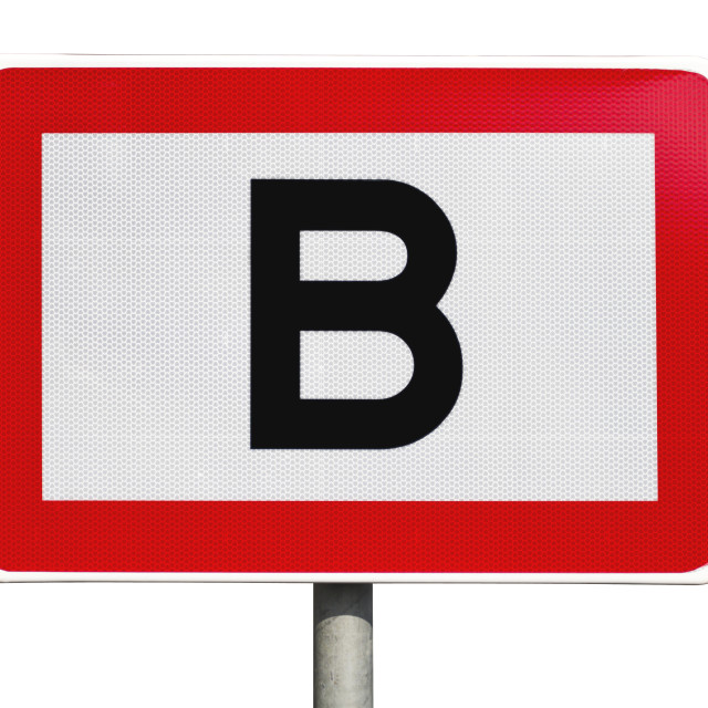 """""""Isolated public road sign"""" stock image"""