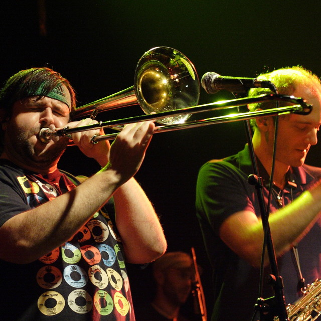 """Youngblood Brass Band Trombone"" stock image"