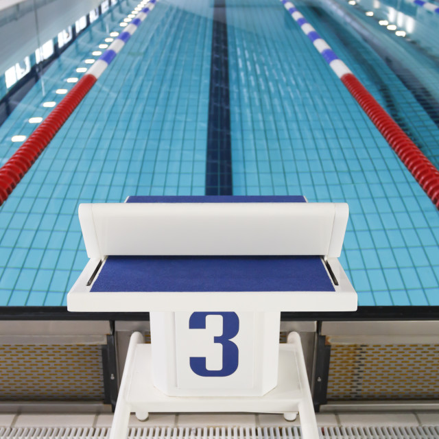 """Starting block position number three"" stock image"