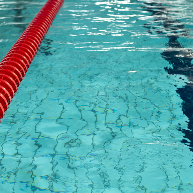 """Empty swimming pool lane"" stock image"