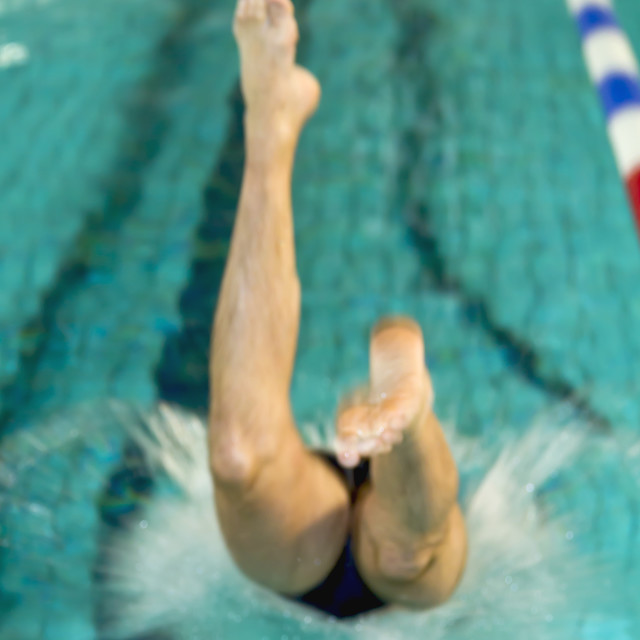"""Man diving"" stock image"