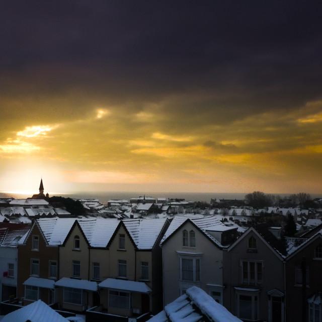 """Snowy Vista of Swansea"" stock image"