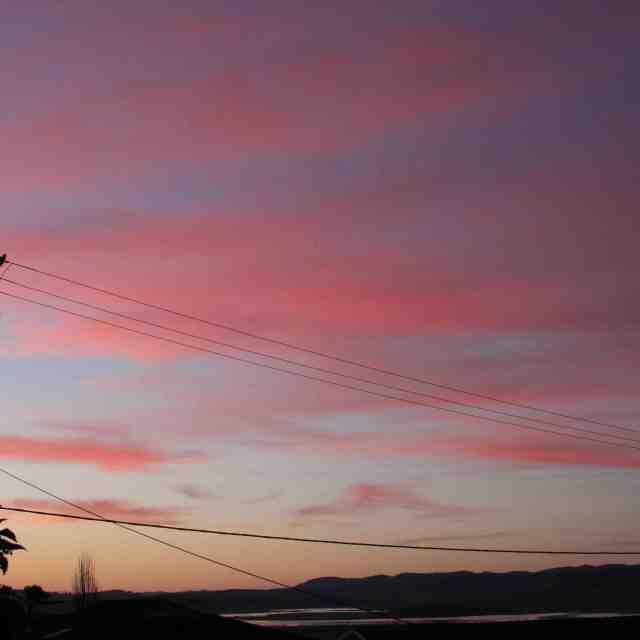 """""""Vanilla Sky in Tasmania"""" stock image"""