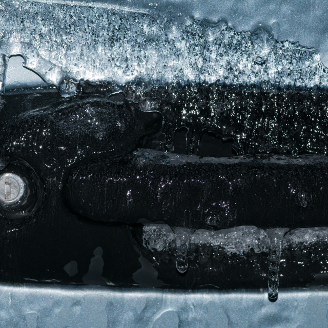 """Frozen car door lock"" stock image"