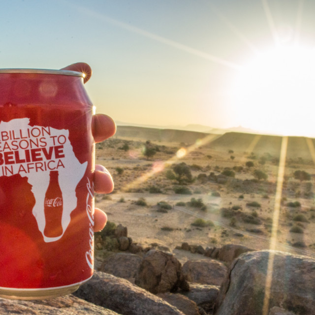 """A Billion Reasons to Believe in Africa"" stock image"