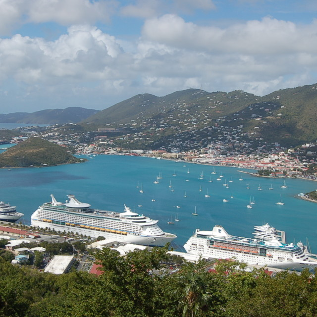 """Paradise Point - St. Thomas - Virgin Islands"" stock image"