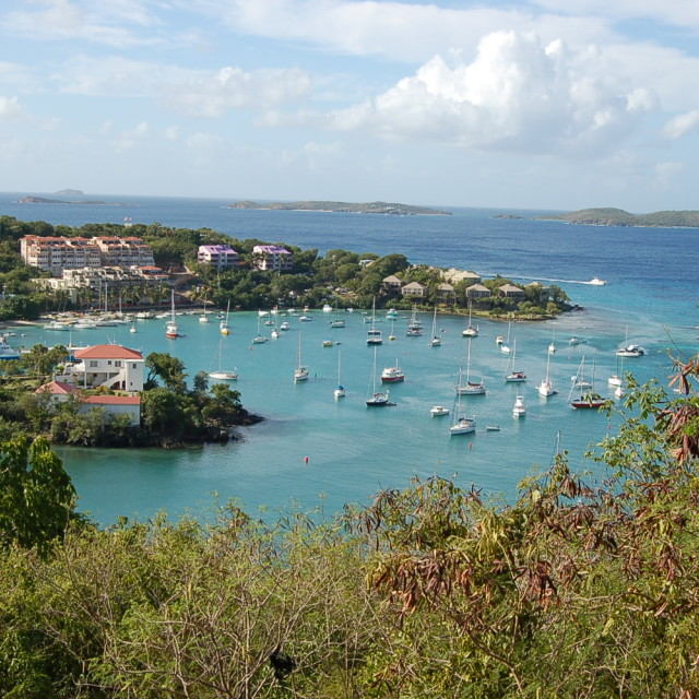 """Cruz Bay Harbor, St. John, U.S. Virgin Islands"" stock image"