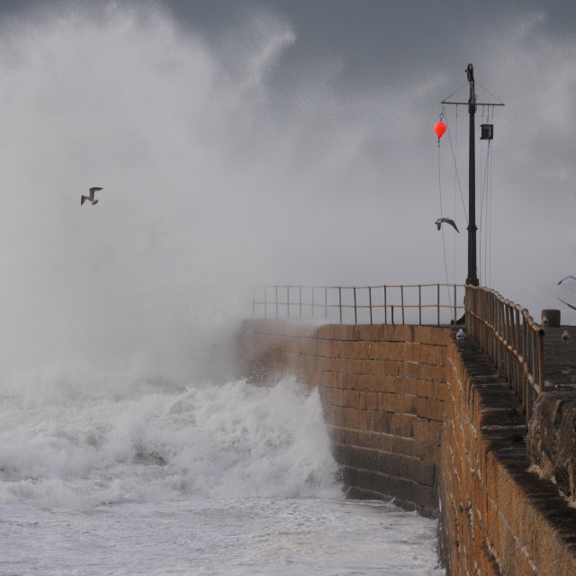 """Porthleven Storm"" stock image"