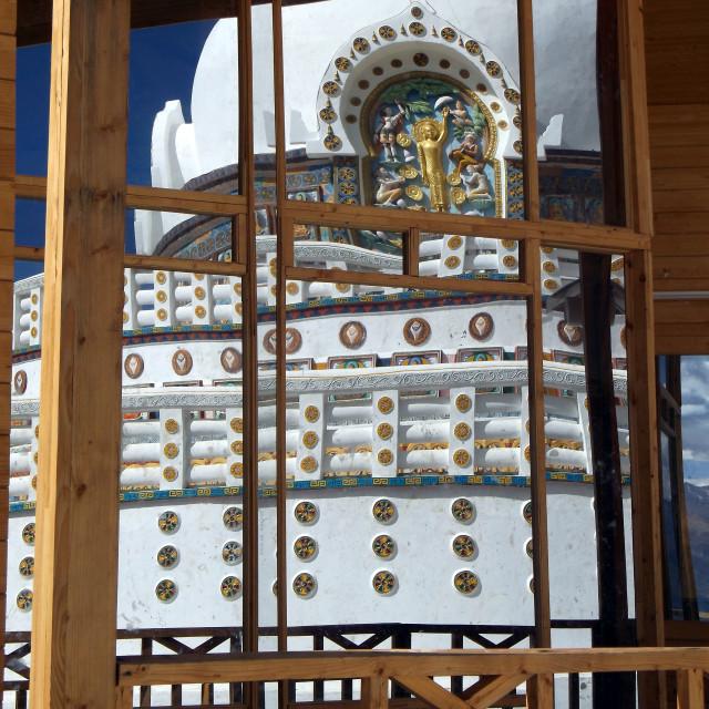"""""""Shanti Stupa 2"""" stock image"""