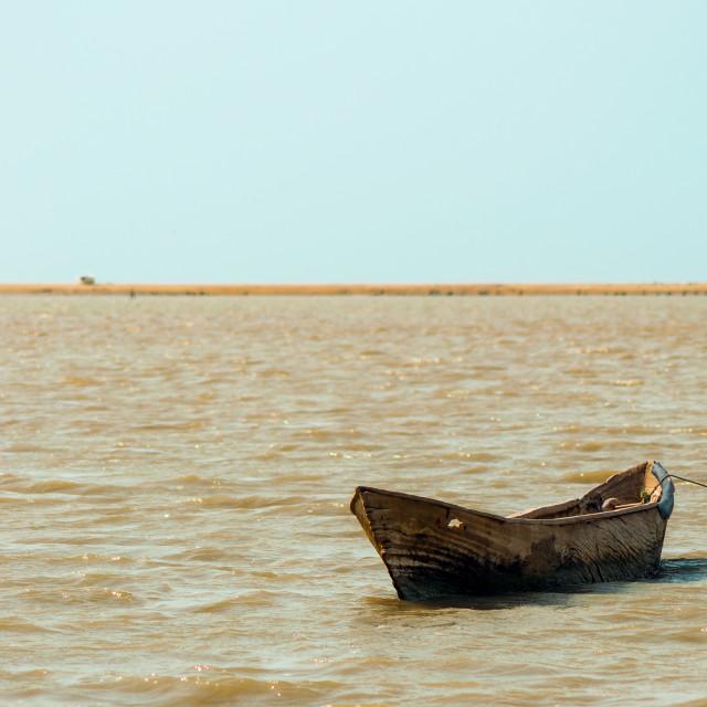 """Lone Canoe"" stock image"
