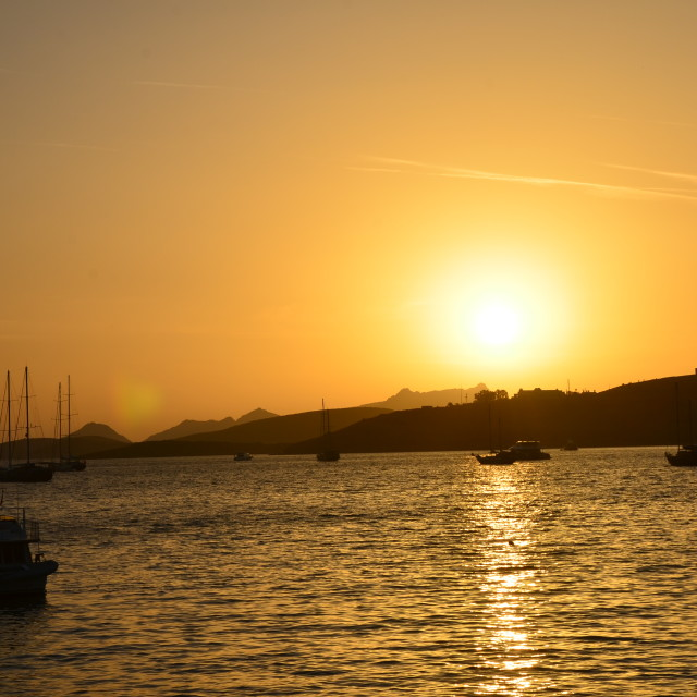 """Bodrum Sunset"" stock image"