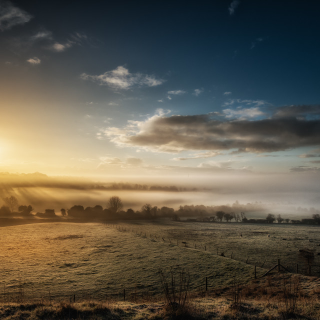 """Sunrise On A Misty Morning"" stock image"
