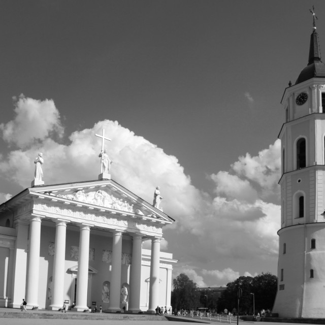 """""""Cathedral of Vilnius"""" stock image"""