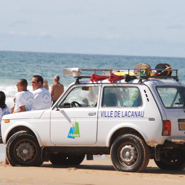 """Lacanau lifeguards"" stock image"