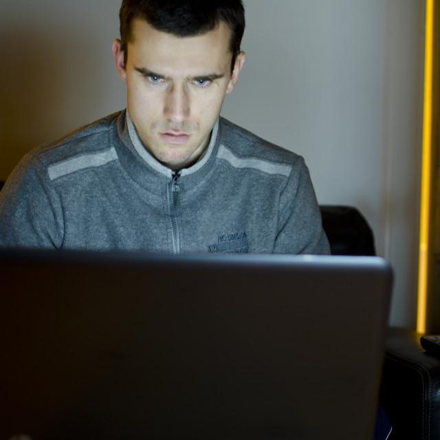 """""""Man on laptop"""" stock image"""