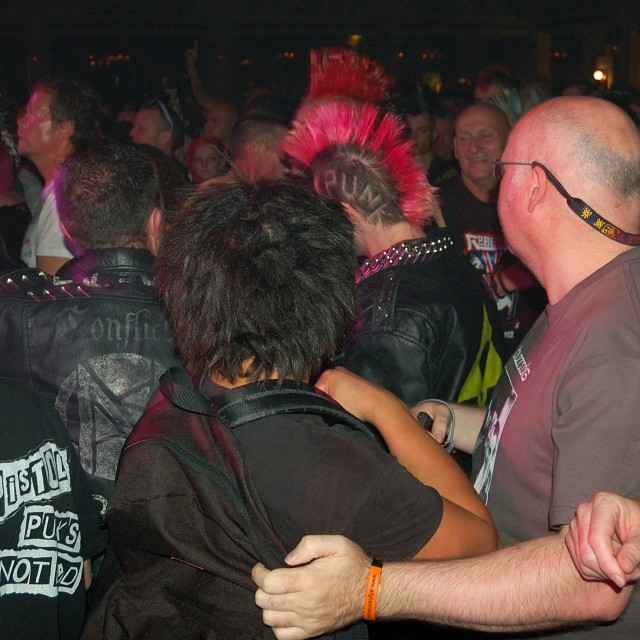 """Punk Crowd"" stock image"