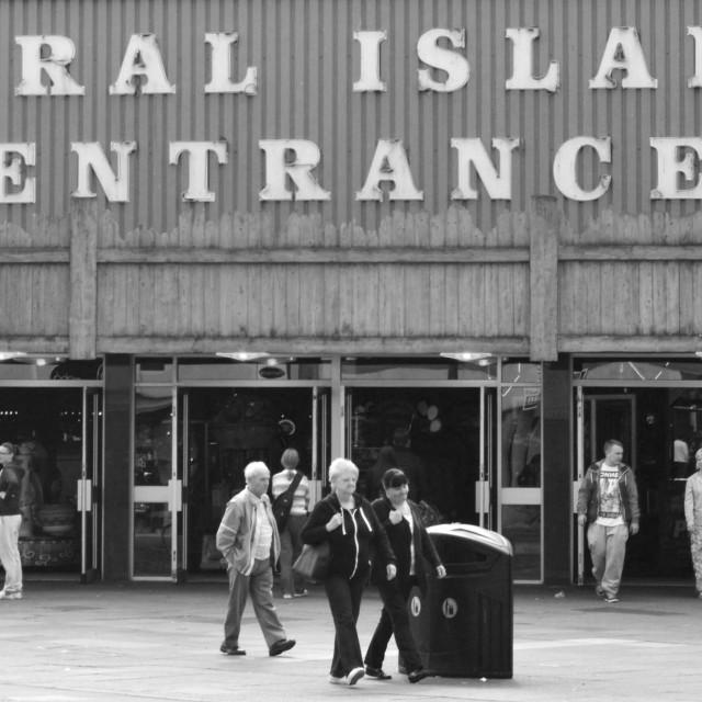 """Coral Island, Blackpool"" stock image"