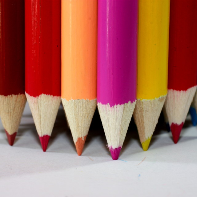 """""""Pencil Points Down"""" stock image"""