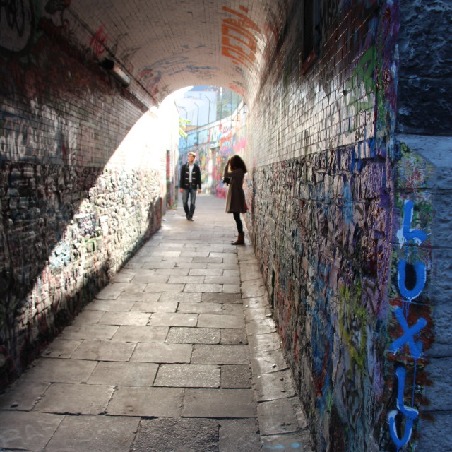 """Graffiti Alley"" stock image"