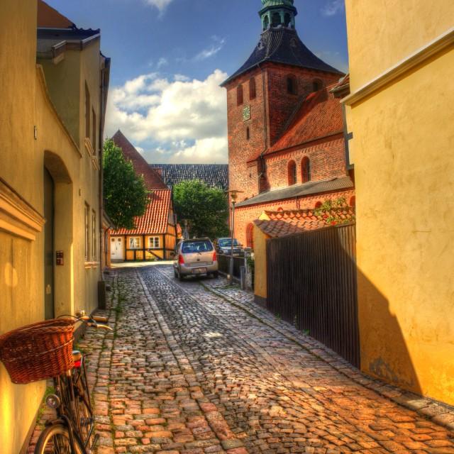 """Sankt Nicolai Kirke Svendborg"" stock image"