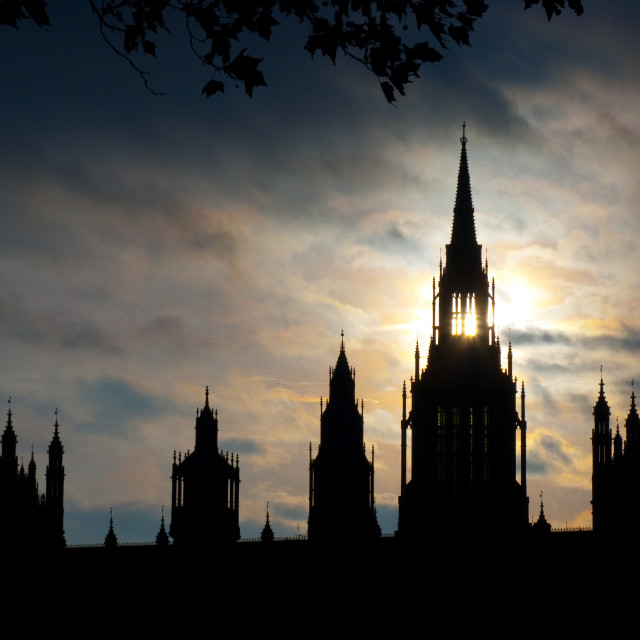 """Westminster Sunrise"" stock image"