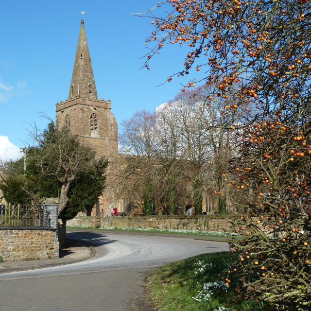 """Newnham church"" stock image"