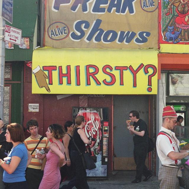 """Coney Island Freak Show"" stock image"