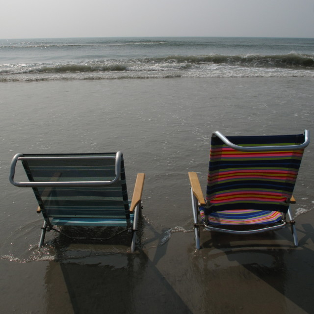 """beach chairs"" stock image"