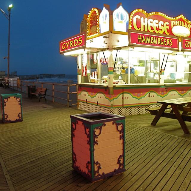 """Atlantic City Boardwalk"" stock image"