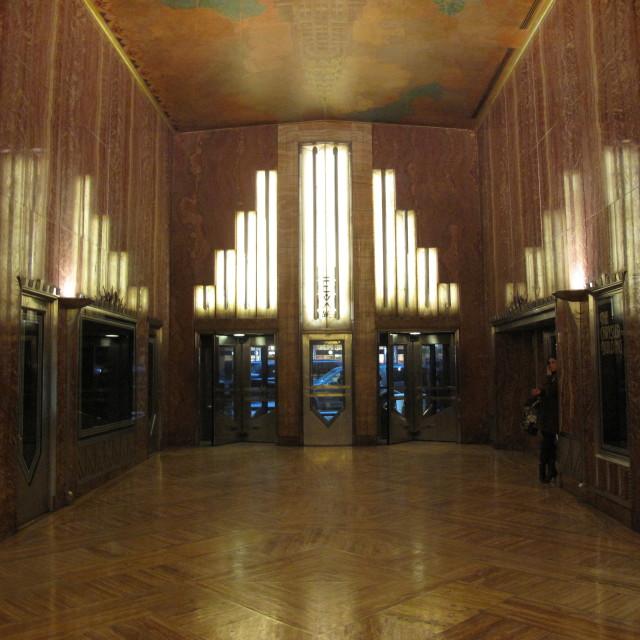 """""""Chrysler lobby"""" stock image"""